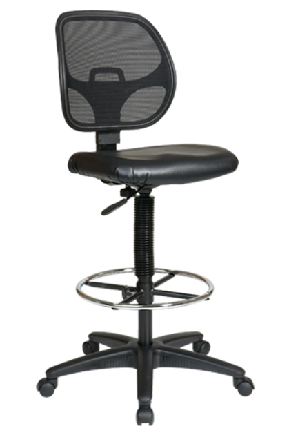 Deluxe Mesh Back with Vinyl Seat Drafting Chair