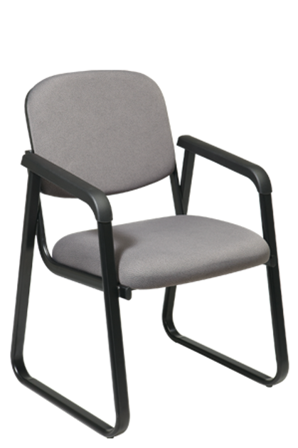 Deluxe Sled Base Arm Chair with Plastic Back