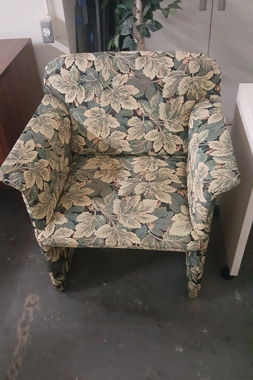 Club Chairs with Leaf Pattern