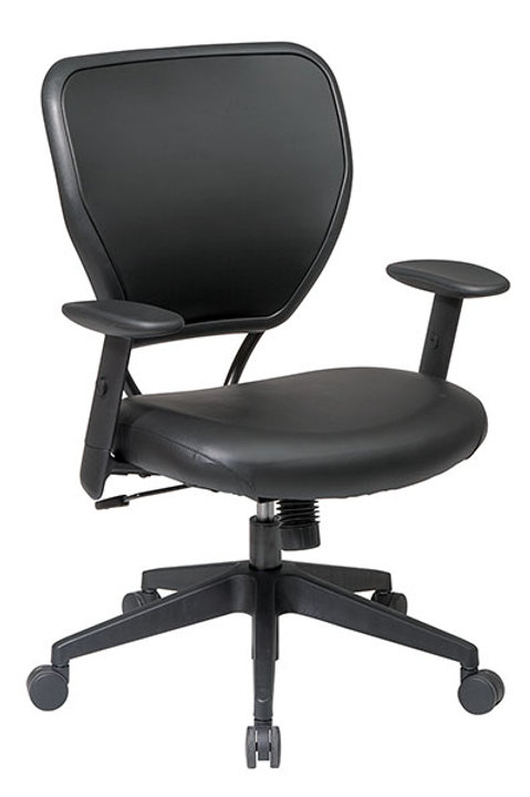 Black Vinyl Over Air Grid Back Managers Chair