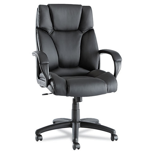 High Back Swivel Black Leather Chair