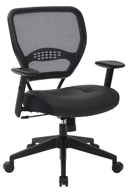 Air Grid Back with Bonded Leather Seat