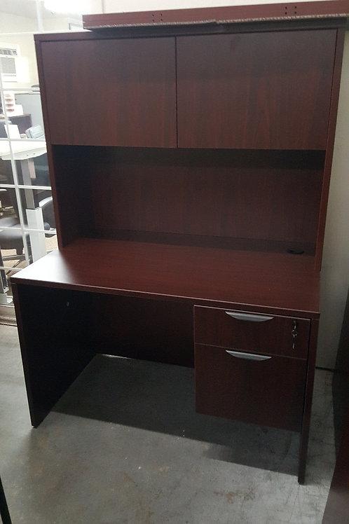 Mahogany Desk with Hutch