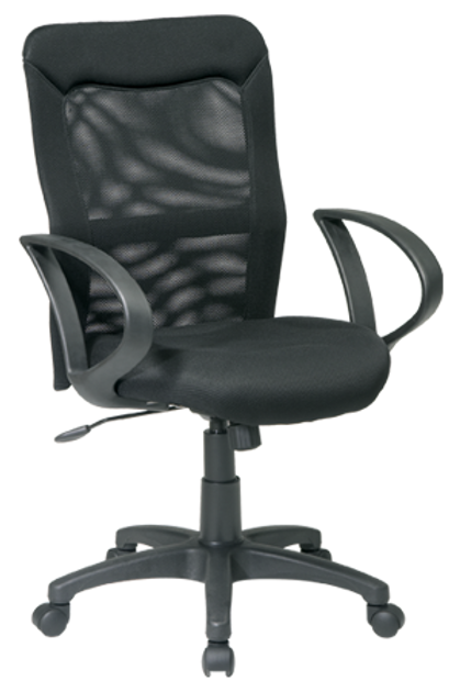 Mesh Screen Back and Seat Chair with Loop Arms