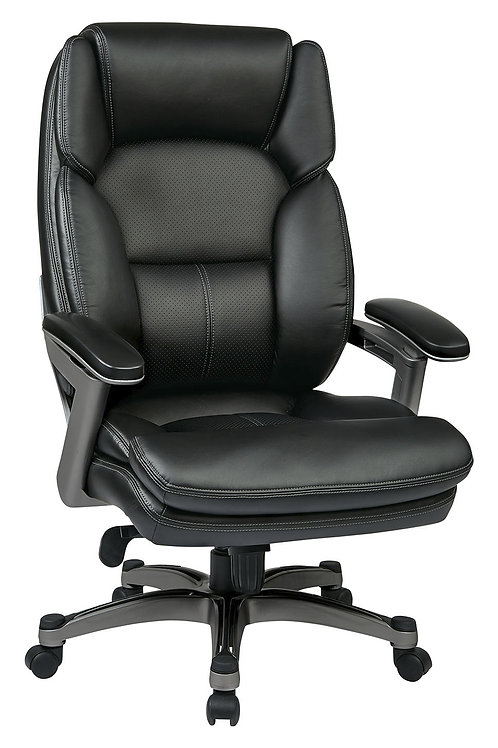 Bonded Leather Executive Chair with Padded Arms