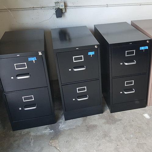 Black Two Drawer File Cabinet