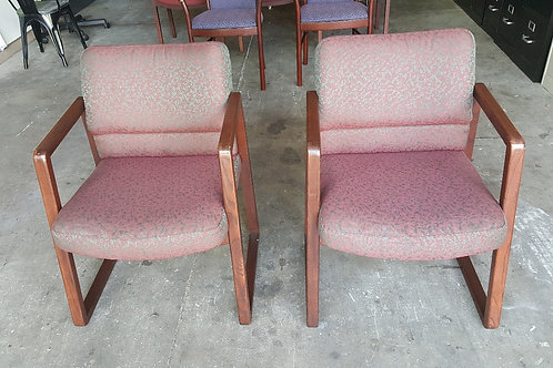 Pair of Wood Guest Chairs