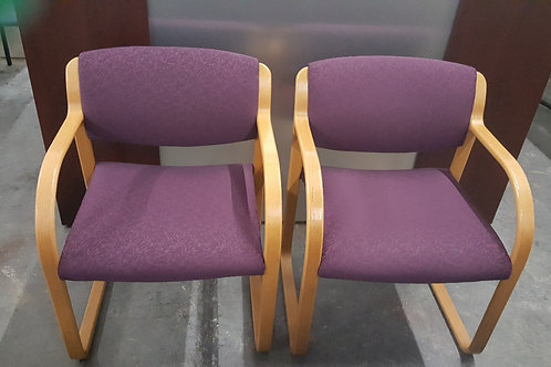 Wine and Oak Guest Chairs