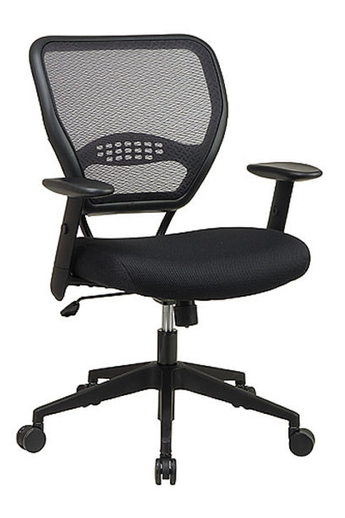 Air Grid Back Managers Chair with Black Mesh Seat