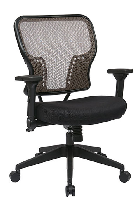 Latte AirGrid Back and Padded Mesh Seat
