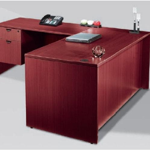 Mahogany or Cherry L Shape Desk