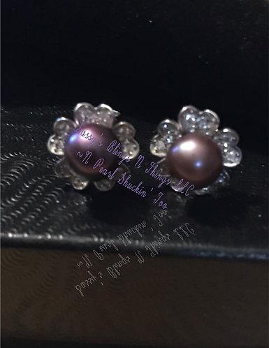 *Jeweled Flower Earrings