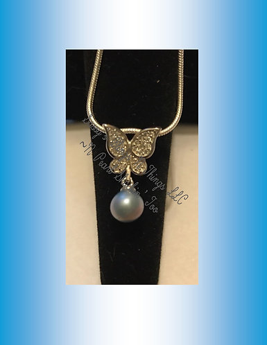 *Butterfly W/Dangle Pearl