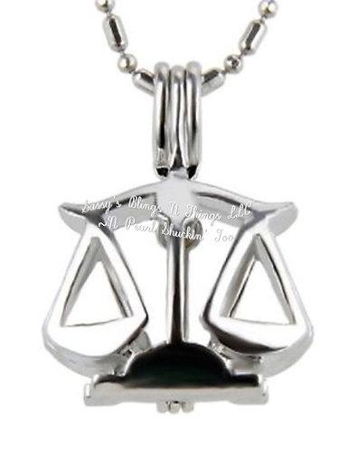 """*Zodiac Libra Cage Pendant w/18"""" Chain (SP)"""