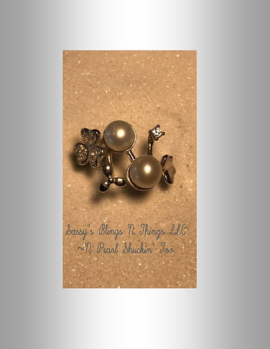 *Double Pearl Flower Ring