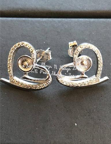 *Jeweled Heart Earrings