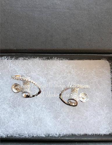 *Jeweled Fashion Swirl Earrings
