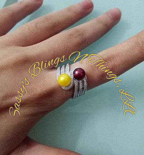 *Triswirl Dual Ring