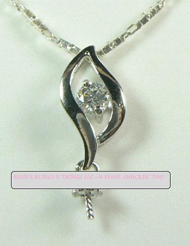 *Center Jewel Drop Pendant