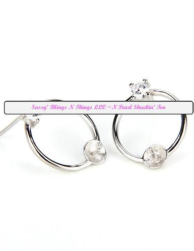 *Jewel w/ Hoop & Pearl Earrings