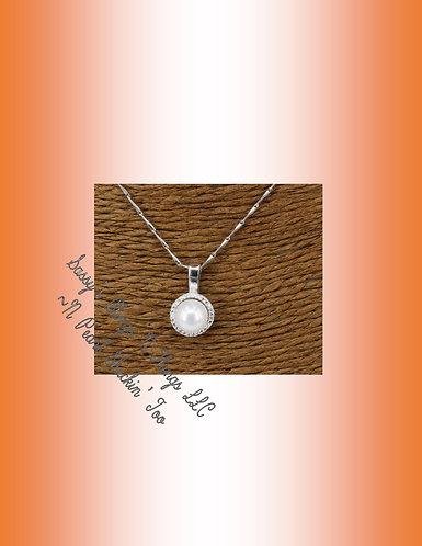 *Sassys Simply Round Jeweled Pendant