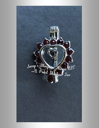 *Red Zircon Heart Cage (SP)