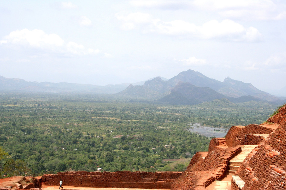 Sigiriya.  477 to 495 AD. View at the top.