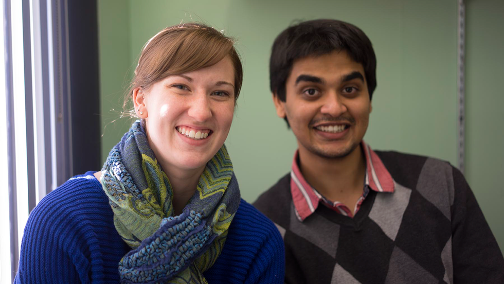 Alyssa & Pratik in the office