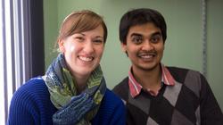 Alyssa & Pratik in the office
