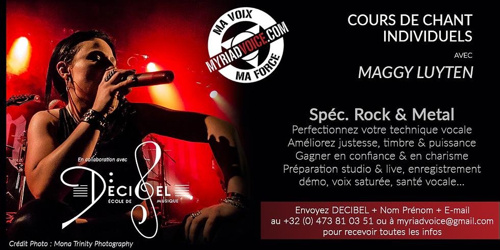 FR Lyon / Cours de chant individuels / Spec. Rock & Metal