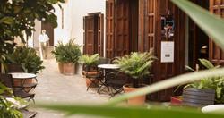 Eingang Hotel La Sacristia