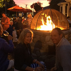 Ember Pizza Cocktails by the Fire Pit