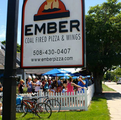 Ember Coal Fired Pizza + Wings Sign