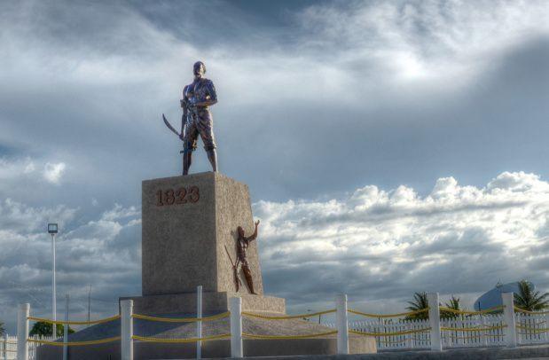 Quamina monument in Guyana