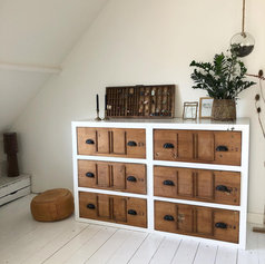zelfgemaakte ladenkast interieur stylist