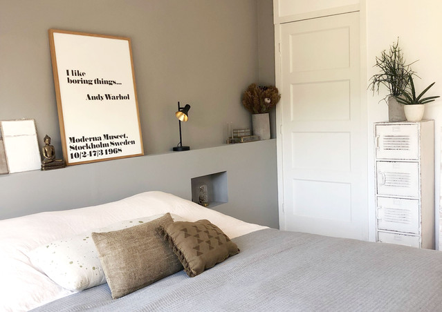 slaapkamer bed en kast interieur stylist