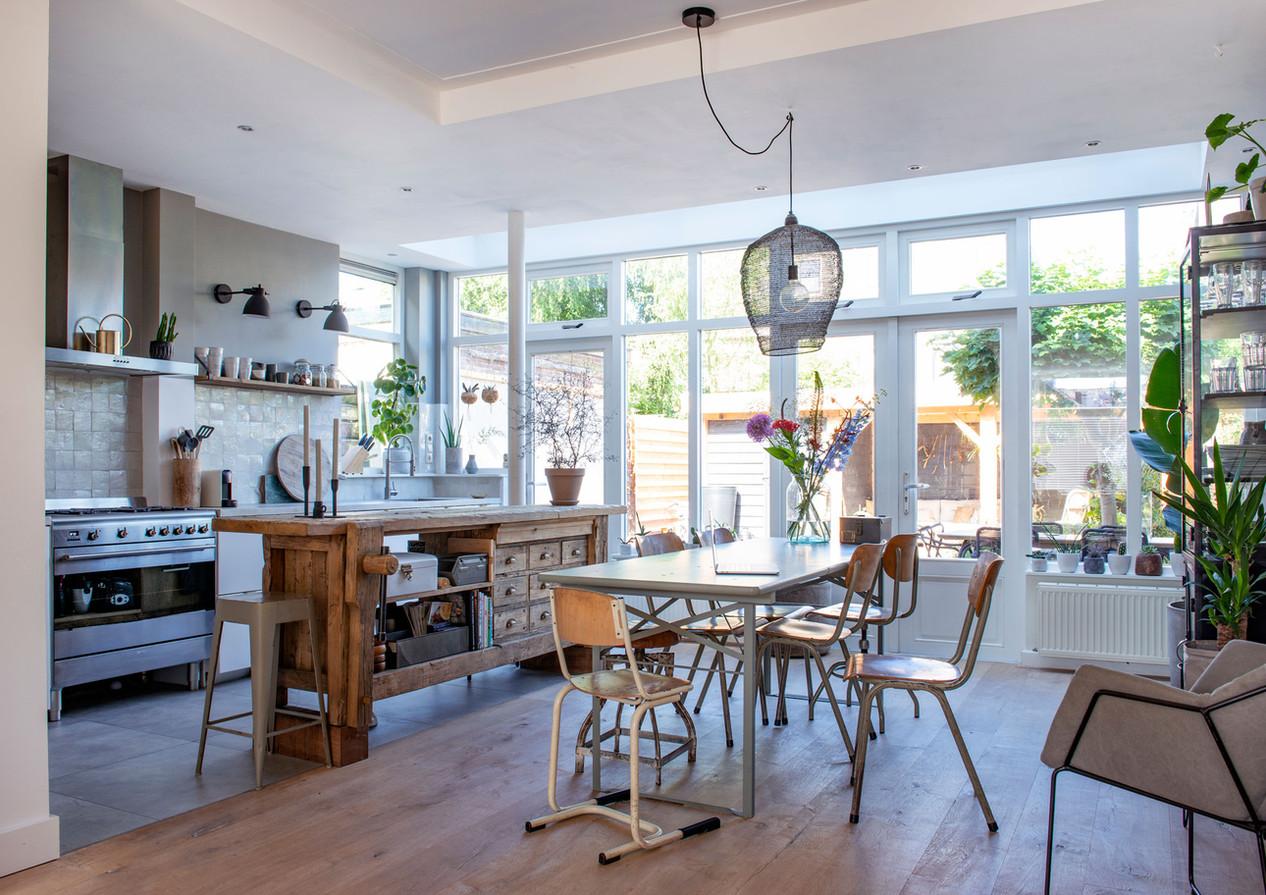 open keuken interieur stylist