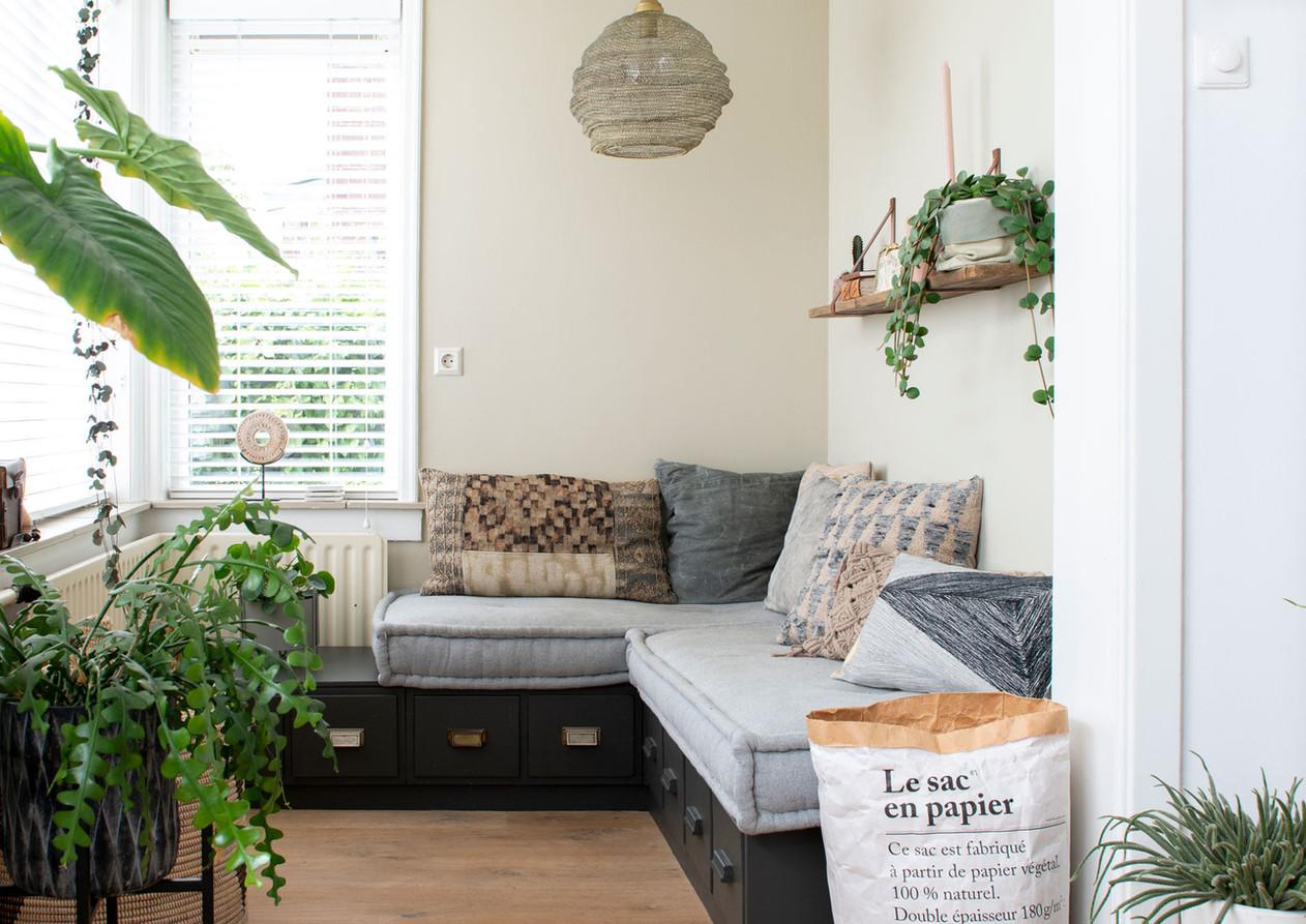 huiskamer hoekhuis lounge interieur styl