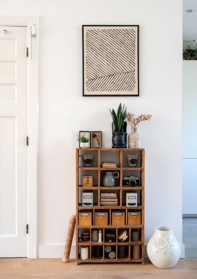 woonkamer vakkenkastje interieur stylist