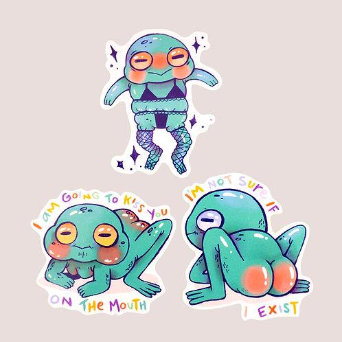 Froggy Sticker Set