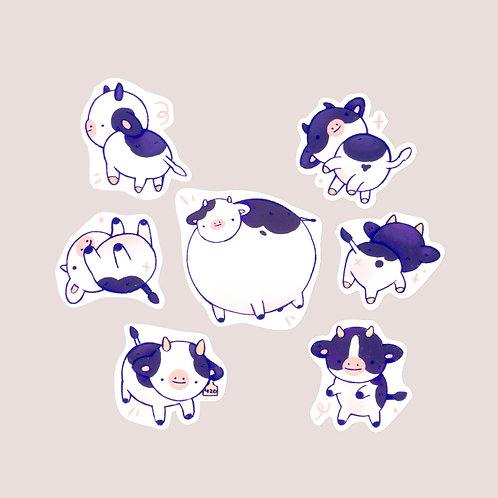 Moo Sticker Set
