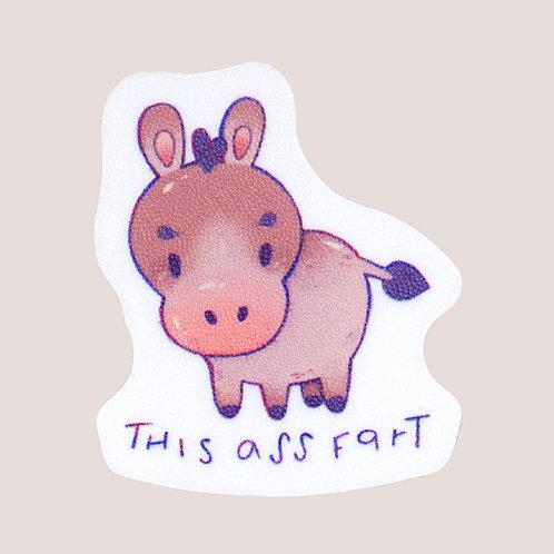 This Ass Fart Mini Sticker