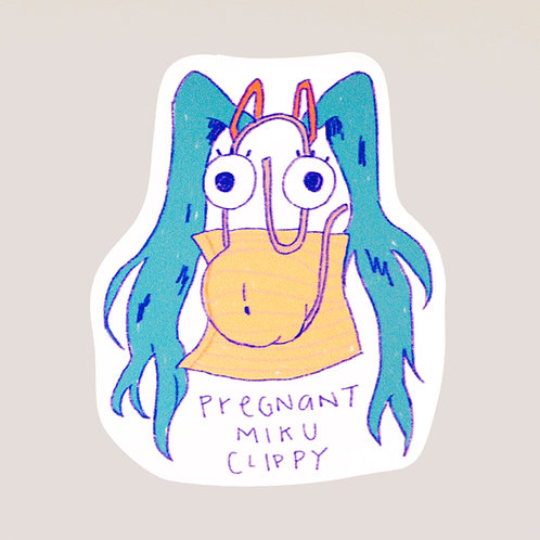Pregnant Miku Clippy Sticker