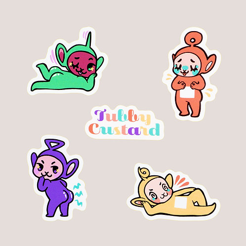Sexy Teletubbie Sticker Set
