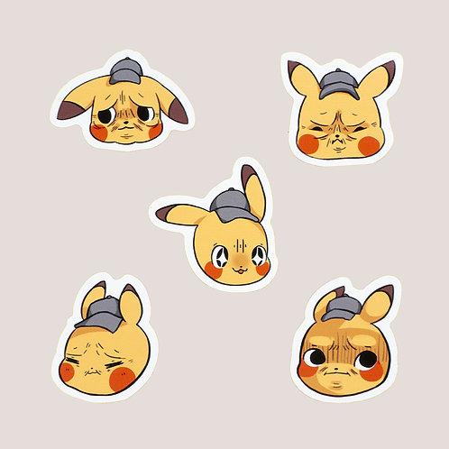 Detective Pikachu Sticker Set