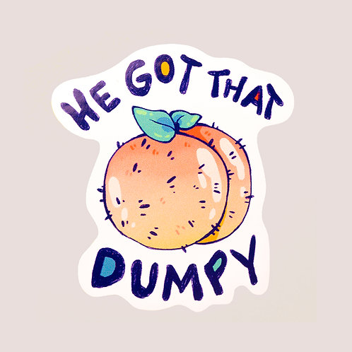 Dumpy Peach Sticker