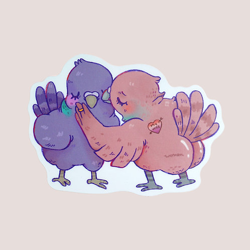 Pigeon Wives Sticker