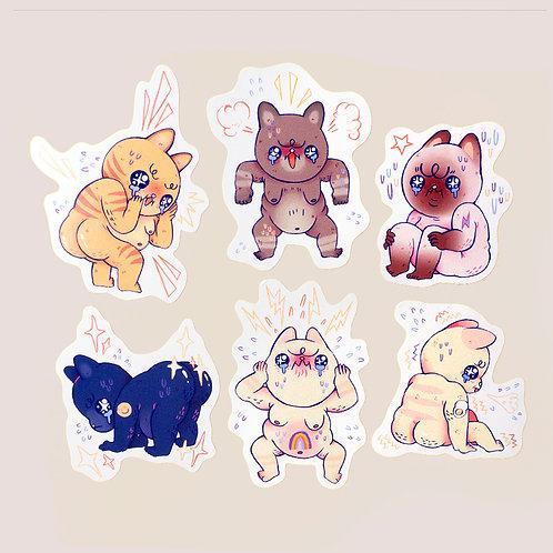 Emotional Guys Sticker Set