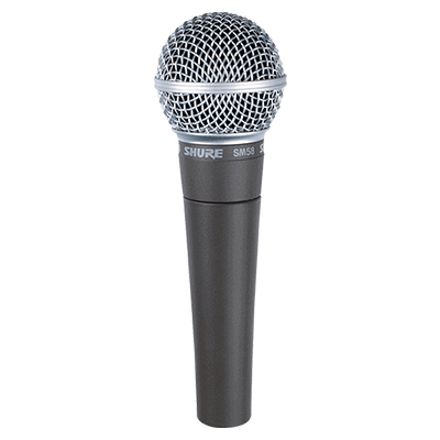 Shure SM58s (Mic vocal c/switch on-off)