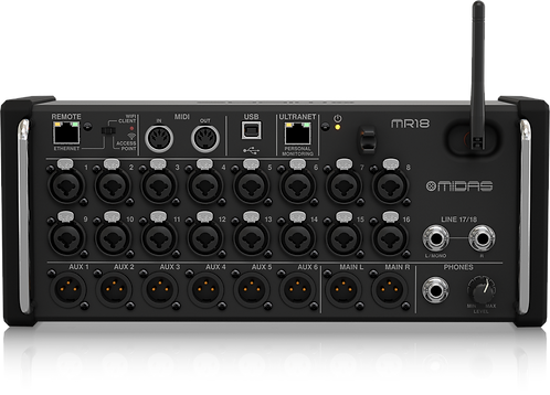 Midas MR18 (Consola Digital 18 entradas, control vía iPad / Android)